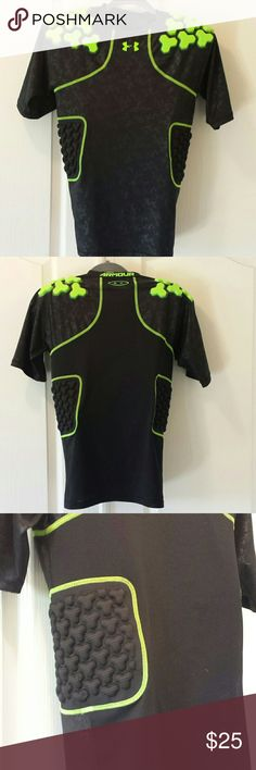 Under Armour Football Gear Black and green, great condition, with side and shoulder compression pads built in Other