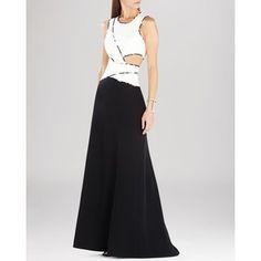 BCBG Max Azria Gown - Nikole Sleeveless Color Block Cutout