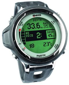 Mares Matrix Dive Computer:  www.BestDiveWatchGuide.com New Trends in Scuba Diving Gear | BEST DIVE WATCHES