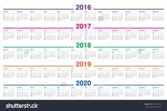 2015 calendars | Template 1: PDF template for three year ...