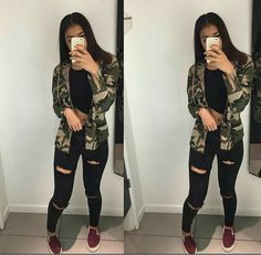 T͞͞h͞͞e͞͞g͞͞o͞͞d͞͞d͞͞e͞͞s͞͞s͞͞ roupas swag, roupa outono, looks com calca, roupas bonitas, roupas estilosas Hipster Outfits, Mode Outfits, Jean Outfits, Trendy Outfits, Fall Outfits, Summer Outfits, Outfits With Camo Jacket, Hipster Clothing, Dress Outfits