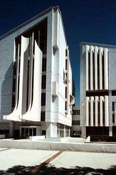 Konservatuvar (Aşkabat, Türkmenistan) Mimarlar: V. M. Orlov, A. S. Sychevoy, A. N. Nikolayeva 1965-1992 Ruslan Muradov Arşivi