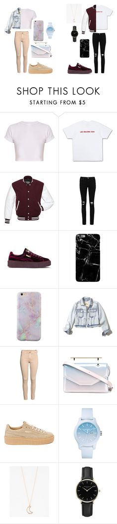 """""""S + M"""" by caitlinkansil on Polyvore featuring Boohoo, Puma, Harper & Blake, Hollister Co., M2Malletier, Lacoste, Full Tilt and ROSEFIELD"""