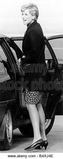 Princess Diana Scotland aberdeen airport - Stock Image