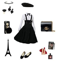 """""""France mode"""" by maria-matilde-ibsen on Polyvore featuring Gucci, Bobbi Brown Cosmetics, Yves Saint Laurent, Tasha, Carbon & Hyde and Nach Bijoux"""
