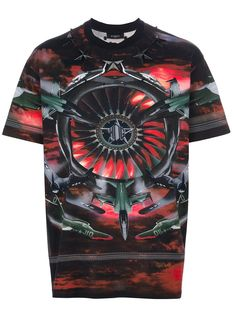 20fe43c02267c Givenchy - Red Fighter Jet Printed Tshirt for Men - Lyst
