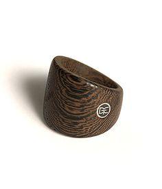 Women's Wenge Ring, Handmade Wood Eco Urban Jewelry