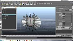 feather with paint effects maya