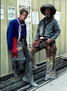 """Tombstone Cowboys Thomas Haden Church and Steven Lang.  Steven is known as the bad guy on """"Avatar"""".  I worked with him on Salem.  He's a lovely guy!"""