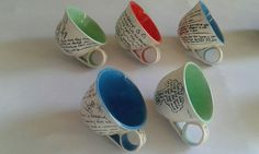Letter cups