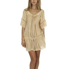 Sunday Saint-Tropez Antalia Dress SUNDAY SAINT-TROPEZ ($595) ❤ liked on Polyvore featuring dresses, home, women's, beach dresses, bohemian beach dress, off shoulder dress, boho dresses and off the shoulder boho dress