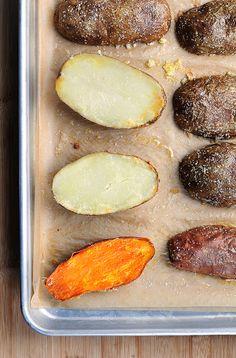 Quick Baked Potatoes-used Yukon Gold & Sweet Potatoes...delish!