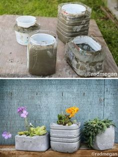 Diy home decor Concrete Planter Molds, Concrete Pots, Diy Planters, Cement Art, Concrete Crafts, Concrete Projects, Cement Flower Pots, Google Play, Garden Ideas