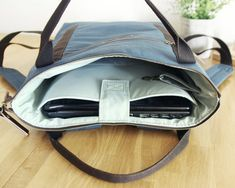 Waterproof poly lining. Inside Bag, Blue Canvas, Waxed Canvas, Deep Sea, Laptop Backpack, You Bag, Diaper Bag, Backpacks, Trending Outfits