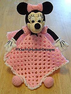 Ravelry: Mickey  Minnie Lovey Blankies pattern by Knotty Hooker Designs