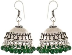 Shop Online for Waama Jewels Pearl Jhumki Earring, Green College Wear For Girl, Gift For Lover, best on today, Beautifull today, vintage earring in India at Voonik.com, 5711516 ✓Easy Returns ✓Pan india Shipping ✓Affordable Prices ✓Cash On Delivery