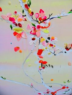 abstract florals - texture, colour, paitnerly