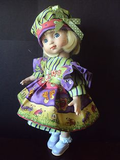 BUGS IN THE GARDEN DRESS SET FOR TONNER PATSY/ANN ESTELLE DOLL BY CGREYROMA