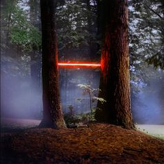 Drawing inspiration from early theatrical training, and influenced by methods of staged photography and set design, artist Barry Underwood (previously) transforms ordinary landscapes into something out of science fiction. The artist utilizes LED lights, luminescent material, and other photograph