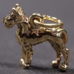 Great Dane gold-plated CHARM cropped
