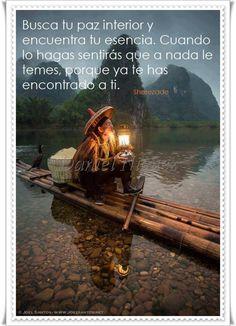 Busca tu paz interior y encuentra tu esencia...