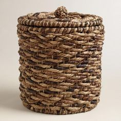 One of my favorite discoveries at WorldMarket.com: Multicolor Water Hyacinth Lidded Round Ava Basket
