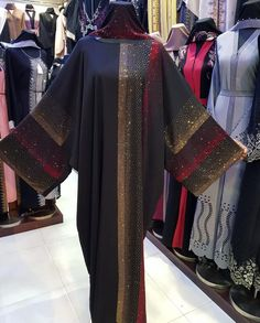 Image may contain: 1 person, standing Iranian Women Fashion, Islamic Fashion, Muslim Fashion, African Fashion, Abaya Fashion, Fashion Wear, Fashion Outfits, Latifa, Clothing Store Design