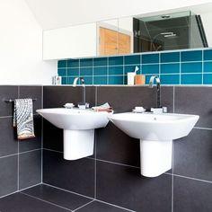 Space saving sink - more floor room.