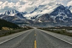 Jasper National Park, Alberta, Canada — by Jeff Clow. This photo was taken approximately two miles north of the Columbia Icefields visitor center in Jasper National Park....