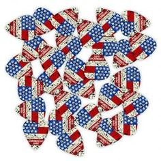 ChromaCast Delrin USA Flag Guitar Picks, 30-Pack, Heavy(.88mm)  ChromaCast Delrin Dura Picks feature the classic, standard guitar pick shape with a comfortably wide body and a rounded tip that prevents chipping and provides a warm, fat musical tone. Offered in a variety of gauges that all feature a matte, non-slip finish and impressive durability. Pack includes 30 Heavy (.88mm) guitar picks  Features : Classic guitar pick shape with a wide body and rounded tip to prevent chipping and…