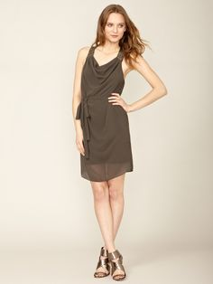 Woven Embellished Draped Dress by Robbi and Nikki