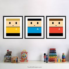 Star Trek Captain Kirk Poster for Kids Room or by TwoFishProject