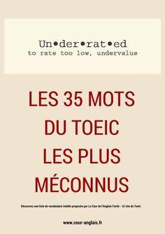 Les 35 mots du Toeic les plus méconnus