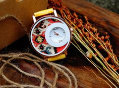 Check out this item in my Etsy shop https://www.etsy.com/listing/472869888/women-watch-yellow-color-watch-kilim-rug