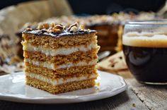 / Kitchen in green: Honey cake with creamy semolina (Stefanka) Chocolate Fudge Frosting, Decadent Chocolate Cake, Polish Desserts, Polish Recipes, Cake Cookies, Cupcake Cakes, Cookie Recipes, Dessert Recipes, Honey Cake
