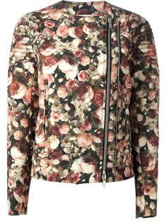 GIVENCHY Floral Biker Jacket