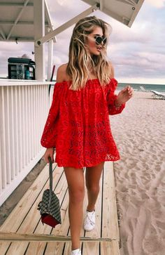 Summer Time For Off Shoulder Dresses Ideas 81 – Fiveno Dress Outfits, Dress Up, Cute Outfits, Fashion Outfits, Womens Fashion, Lace Dress, Dress Beach, Beach Dresses, Fashion Clothes