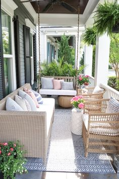 Sharing 6 unique ways to update your small front porch and maximize seating just in time for summer. Sharing 6 unique and budget friendly ways to update your front porch and maximize seating for summer. Furniture, Affordable Outdoor Furniture, Front Porch Furniture, House With Porch, Front Porch Decorating, Porch Design, Small Front Porches Designs, Outdoor Furniture, Front Porch Seating