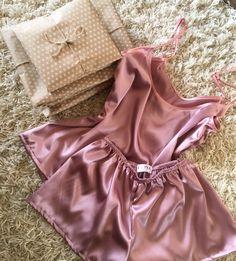 Women's satin pajama set | Short pajama set | Satin sleepwear | Black pajama set | Satin short and shirt by OkiyaStudio on Etsy https://www.etsy.com/listing/470134224/womens-satin-pajama-set-short-pajama-set