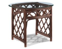 Cambridge Rattan End Table by wicker liked from the comfort of a luxurious wicker sofa. Sectional Furniture, Rattan Furniture, Furniture Sets, Outdoor Furniture, Wicker Coffee Table, Wicker Sofa, Table Measurements, Tropical Furniture, Living Room Kitchen