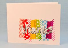 Washi tape card - Colorful Thanks!