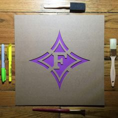 09adc453 Furman University Paladins Stencil - Perfect for coolers, game day  decorations, basement walls,