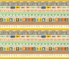 Washi Tape (Numbers) fabric by pennycandy on Spoonflower - custom fabric
