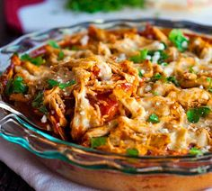 Chicken Tamale Pie by pinchofyum: 286 calories per serving.