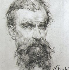 Portrait of the Artist's Father  by Nicolai Fechin. I believe Harry also liked Ilya Repin. I'll have to find some of his...