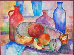 Rebeca Dewey - Watercolor - Art book study - Artist unknown