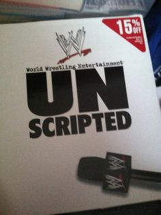 UN Scripted Wwe Books, Wrestling, Author, Lucha Libre, Writers
