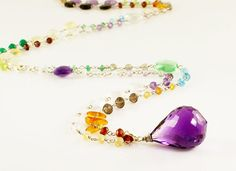 Rainbow Dream Necklace - Sterling Silver