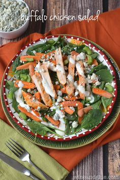 This Buffalo Chicken Salad is ridiculously simple, but epically good, and good for you