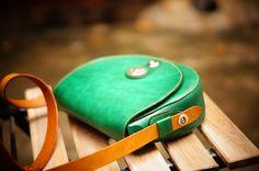 Women Cross Body Bag  Green by GMleathercraft on Etsy